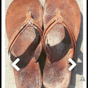 Reef Women's Leather Nubuck Flip Flop